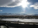 Driving along the highway in Nevada from Elko to Salt Lake, January 9, 2009, 9 a.m.